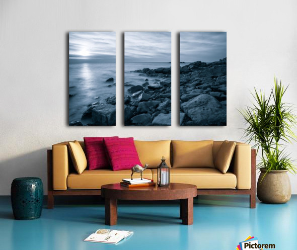Moody Blue Presqu'ile Split Canvas print