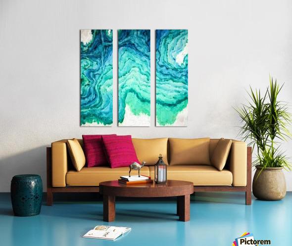 Ocean Floor Split Canvas print