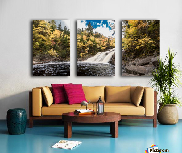 Colorful Mary Ann Falls Split Canvas print