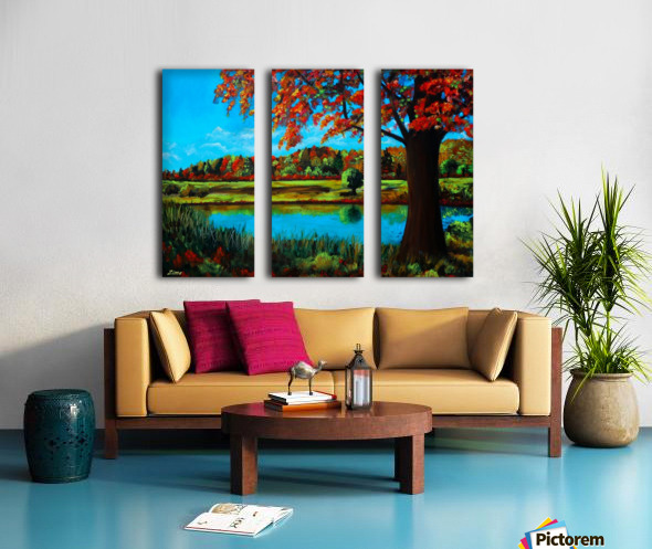Autumn Song Split Canvas print