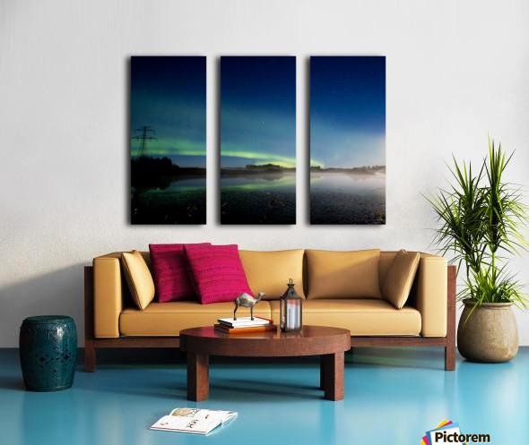 Moonlit Aurora Split Canvas print