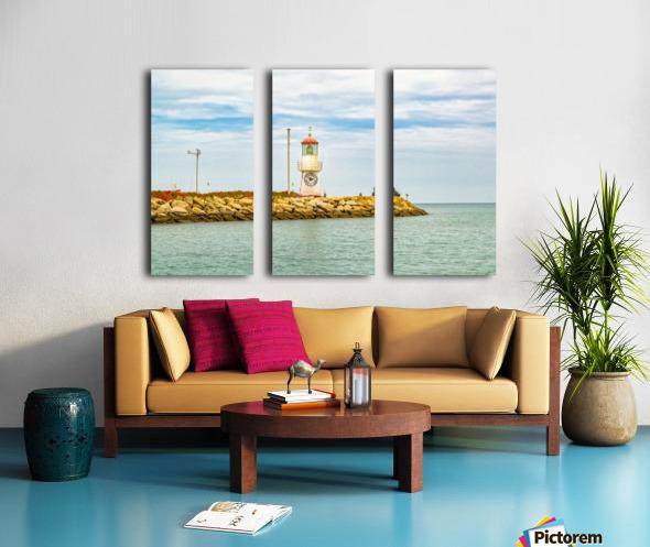 Rock Breakwater Salinas Ecuador Split Canvas print