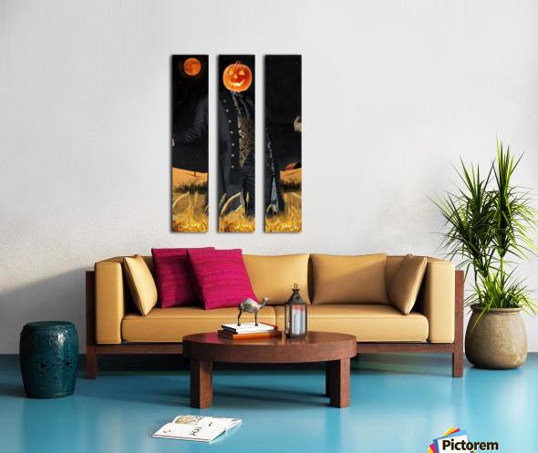 Pumpkinhead by J Gregory Split Canvas print