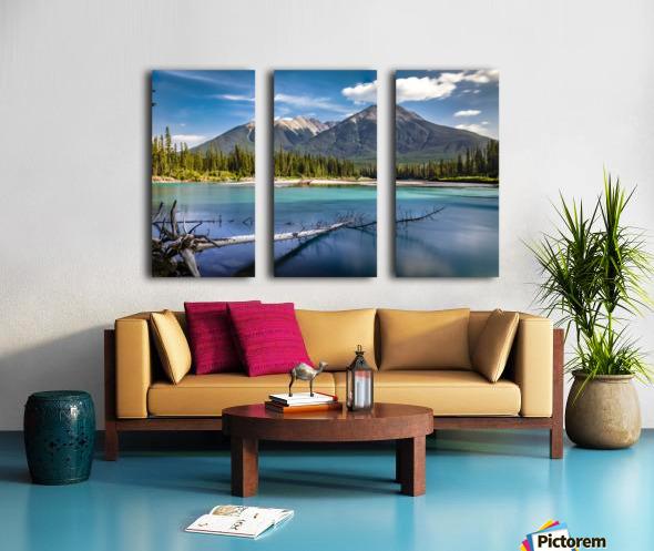 Fallen Split Canvas print