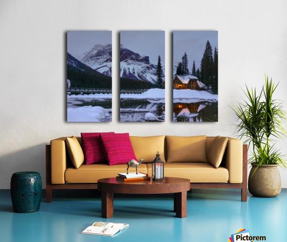 Emerald Lake Lodge Split Canvas print