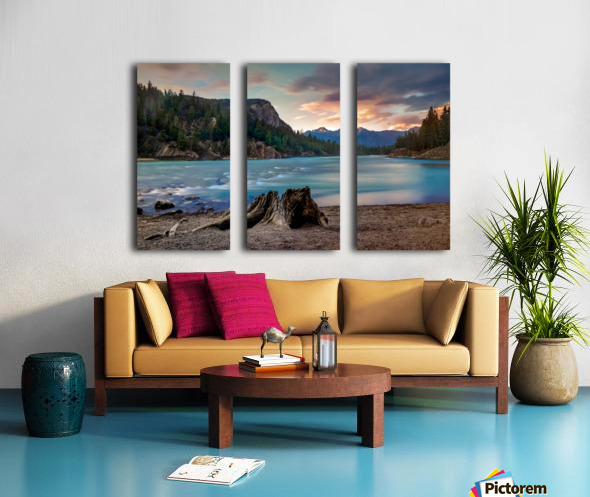 Bow River Split Canvas print