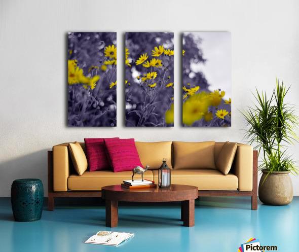 Still yellow Split Canvas print