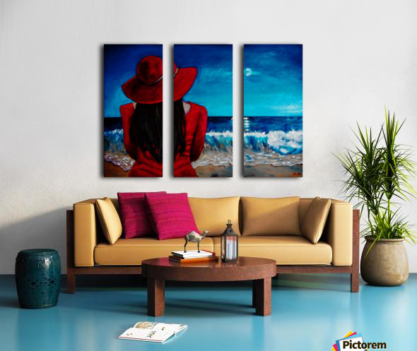 Lady In Red Split Canvas print