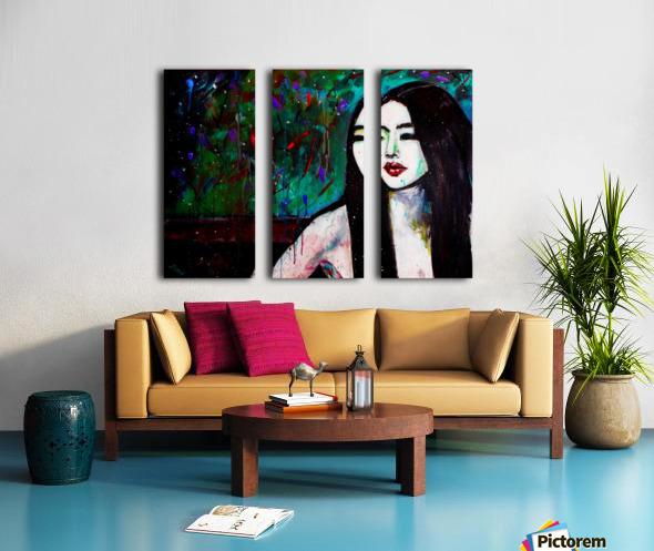 Asian Girl Split Canvas print
