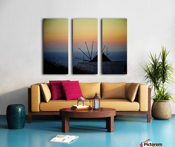 Santorini Sunset Split Canvas print