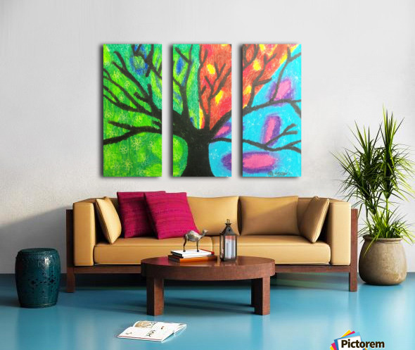Four seasons  Split Canvas print