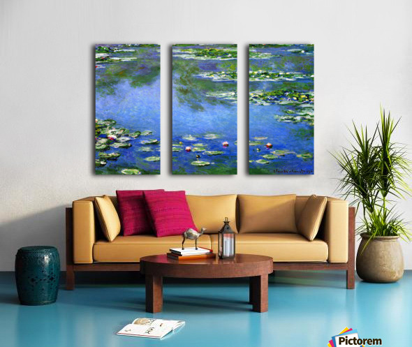 Water Lilies by Monet Split Canvas print