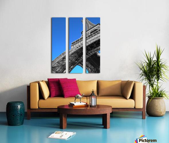 silver Eiffel tower Paris Split Canvas print