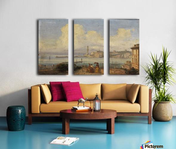 Bucht von Neapel 1855 Split Canvas print