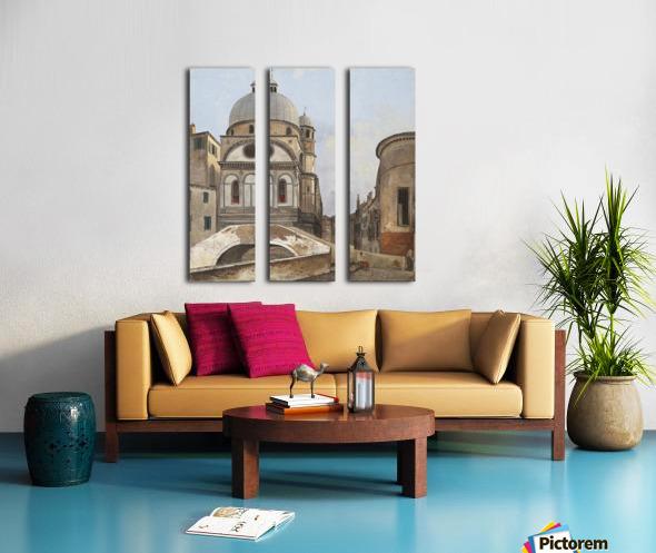Santa Maria dei Miracole e Santa Maria Nova Split Canvas print