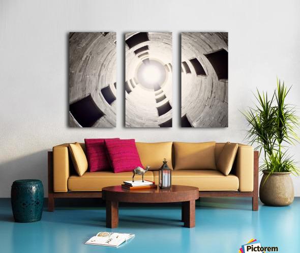 silo perspective Split Canvas print