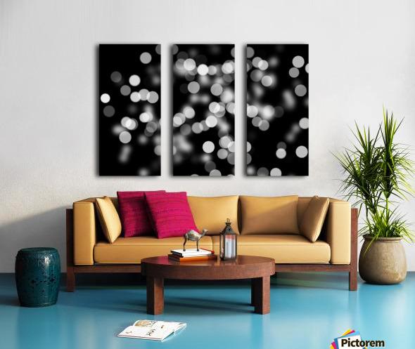 Bokeh Out Of Focus Black White Background Light Split Canvas print