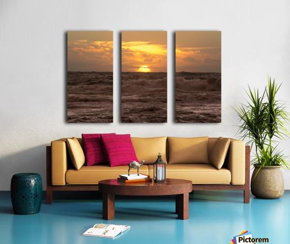 Fire & Water Split Canvas print
