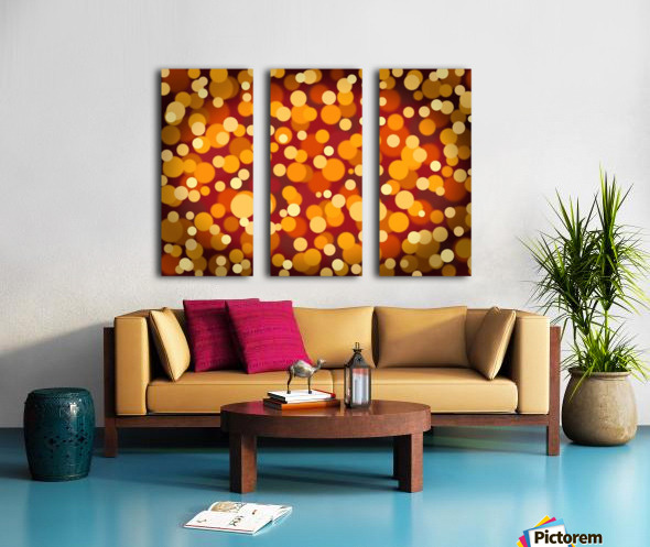 Abstract Background Party Lights Party Lights Split Canvas print
