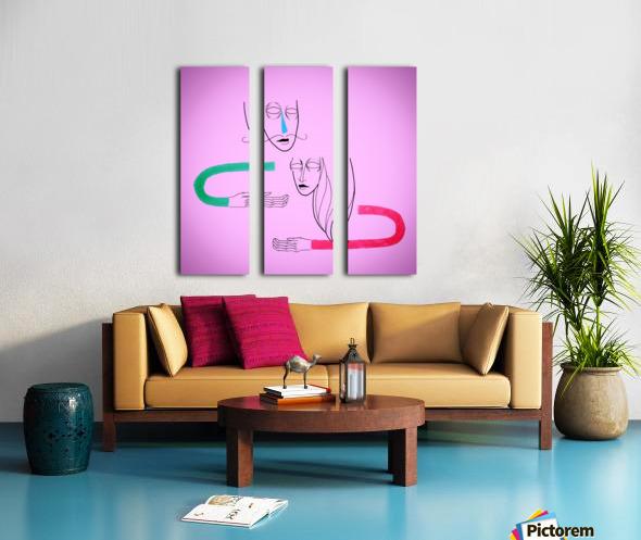 Connection Split Canvas print