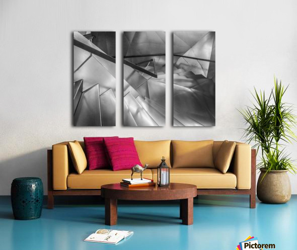 Ladder Art Museum Madrid Creation Arches Split Canvas print