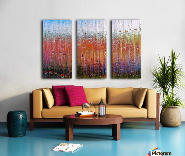 Glass Colorful Abstract Background Color Drip Split Canvas print
