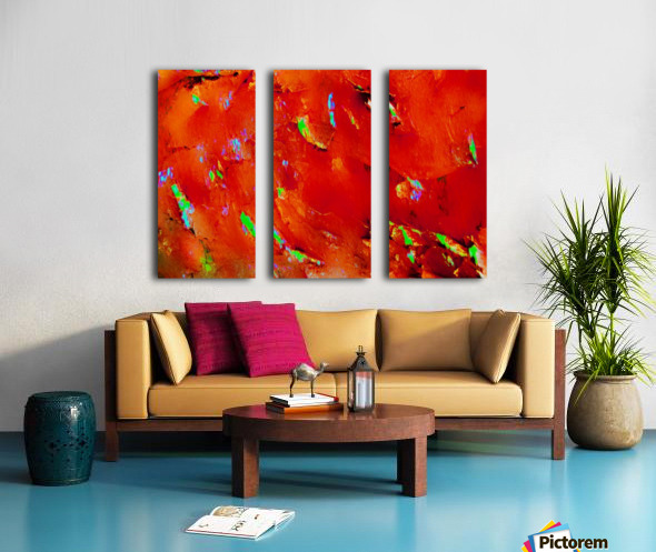 Background Abstract Leaves Seasons Orange Oranges Split Canvas print