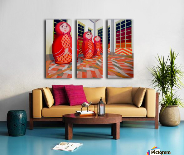Matryoshka Split Canvas print