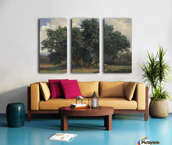Painting of a big green tree Split Canvas print