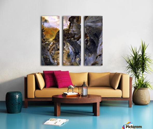 Landscape with cliffs Split Canvas print