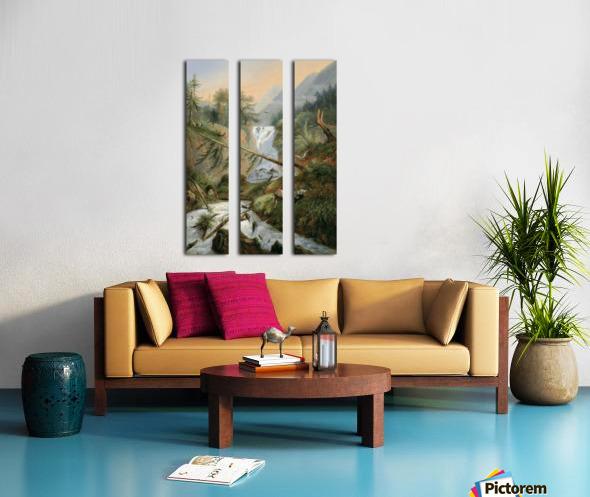 Berger se reposant pres d'une Cascade Split Canvas print