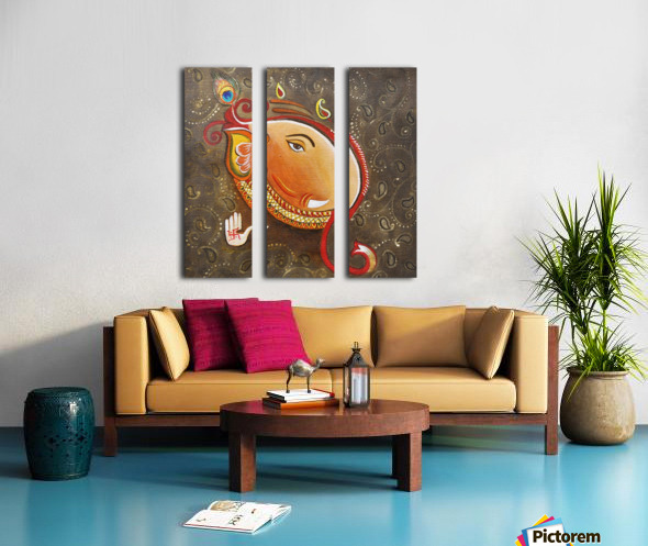 Ganesha the Great God Split Canvas print