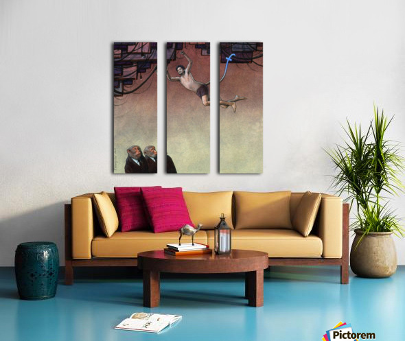 Evolution Facebook Split Canvas print