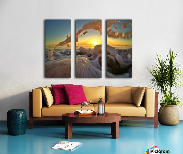 Peace Within the Chaos Split Canvas print
