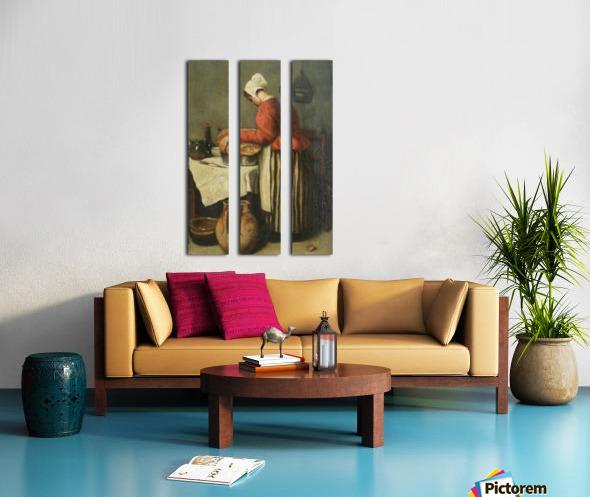 La tailleuse de soupe Split Canvas print