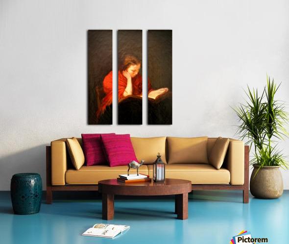 Woman reading Split Canvas print
