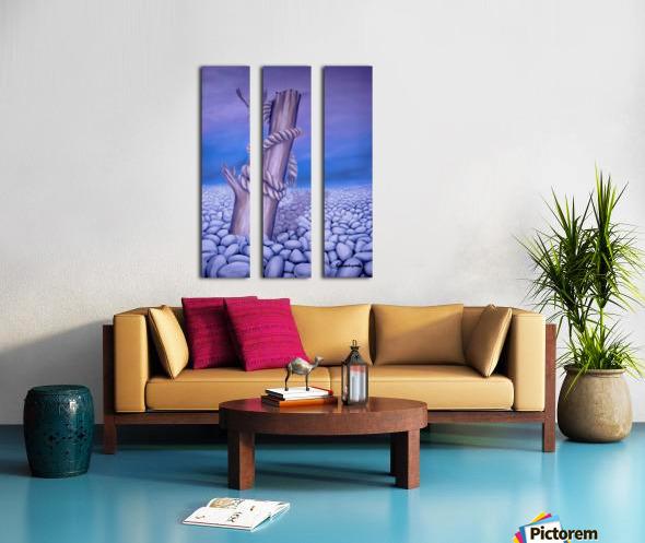 Endless Stillness Split Canvas print