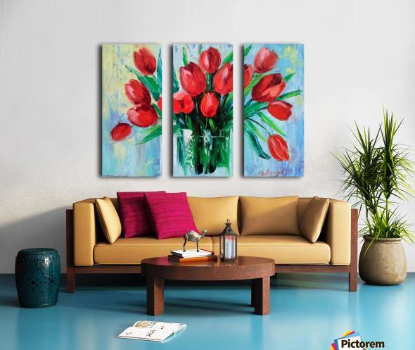 Тюльпаны Split Canvas print