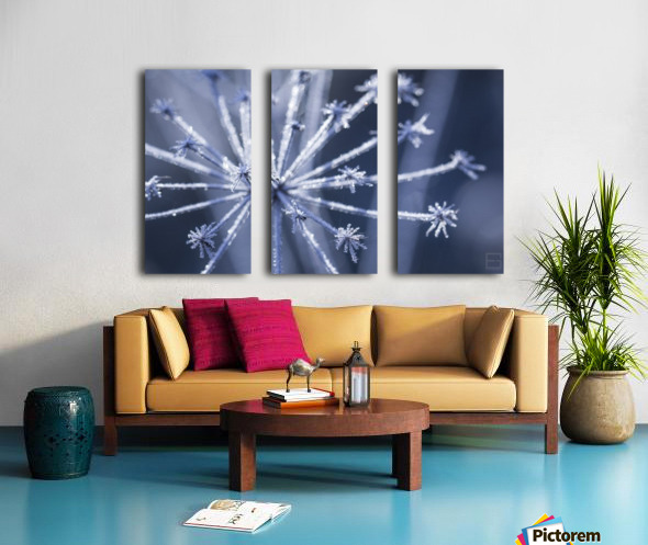 blue Split Canvas print