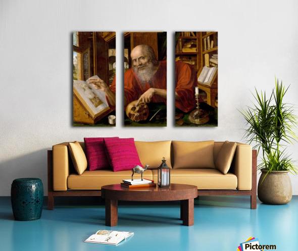 Saint Jerome Split Canvas print