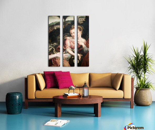 A young girl Split Canvas print