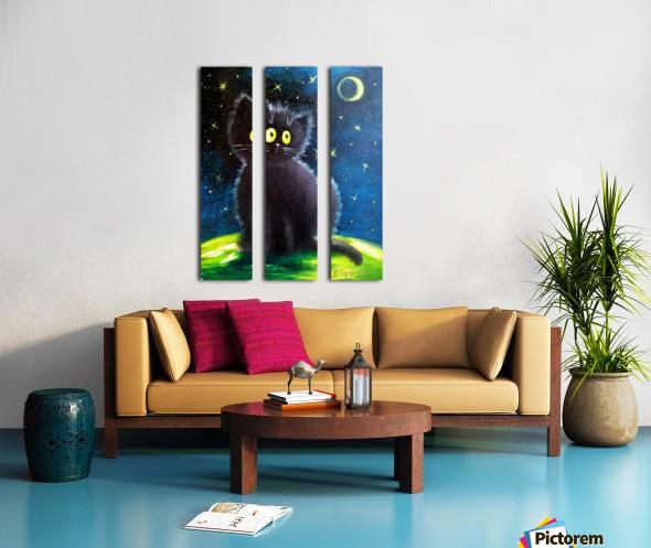Черный кот Split Canvas print