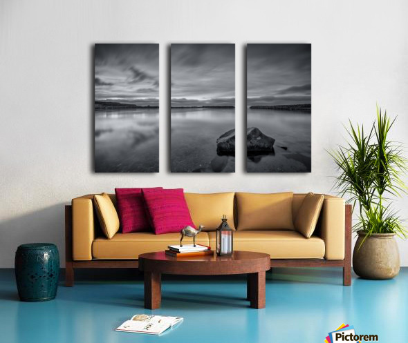 Inside the Harbour - bw Split Canvas print