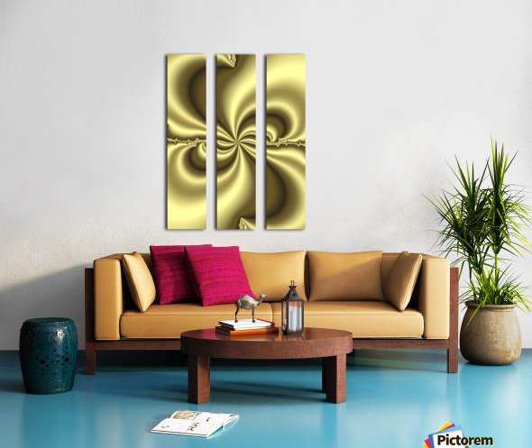 Gold Abstract Split Canvas print