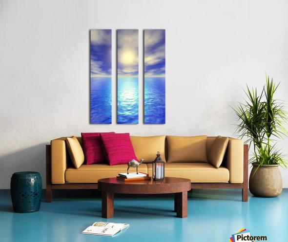 Scenic Ocean View Split Canvas print