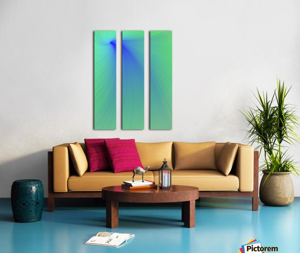 Blue And Green Abstract Split Canvas print