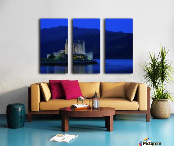 Castle In Scotland Split Canvas print