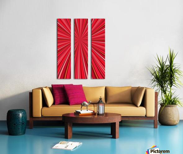 Pink Abstract Design Split Canvas print