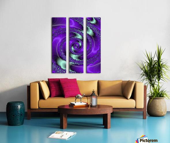 Purple Vortex Split Canvas print