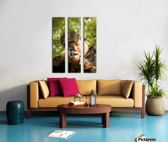Man Hunting Split Canvas print